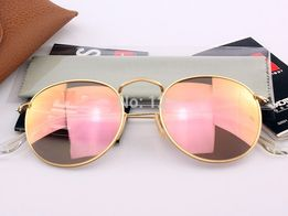 Очки Ray Ban RB 3447 Round Metal Pink комплект стекло круглые 5b3eb96e4fd68