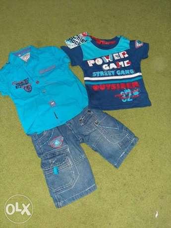 clothing for baby/kids boy, 18month, set, blouse, top