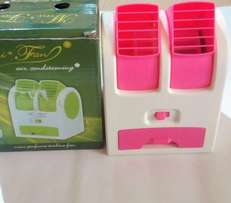 Portable air fan with fragrance