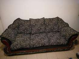 Sofa set: 3 seater couch, Sofa bed, 1 seater, and FREE carpet