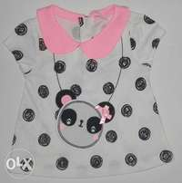 TU Panda Club Baby Dress Top