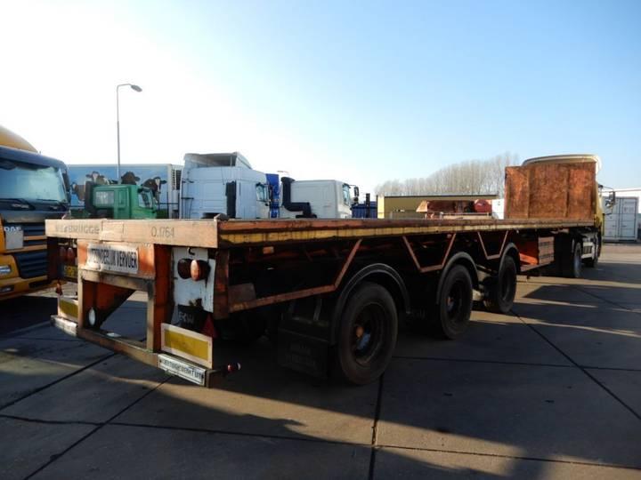 EKW Extendable Flat trailer / 3x steering axle / 8,4 meter - 1996