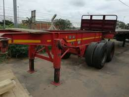 6M skeleton double axle trailer
