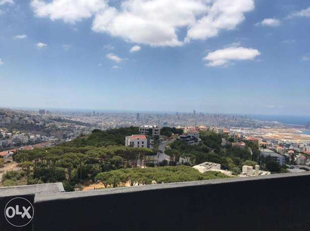A furnished 250 m2 apartment with a sea view for sale in Bsalim