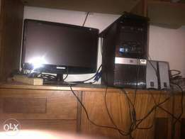 "hp desktop 250 gig hdd 20""lcd samsung sell or swop"
