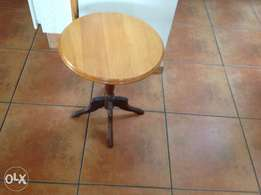 Round coffee table, stink wood, good condition, 2 for sale , 50x 40