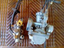 Two stroke carburetor and pump
