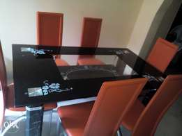 six seater dinning table and chair