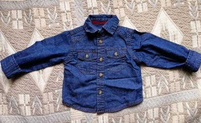 Джинсовая рубашка  80 грн. - Одяг для хлопчиків Кременчук на Olx eb673b5701dca