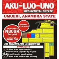 Plots of Land for sale in Umueri, Anambra state