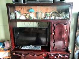 Tv Wall unit made of very good hard wood