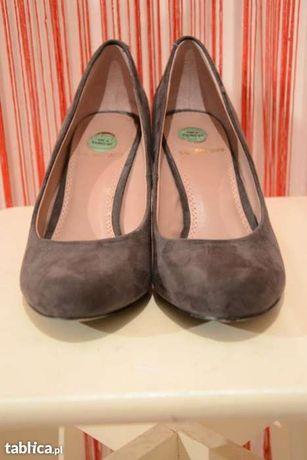 4c24c546f6dbc brązowe czółenka szpilki buty La Strada 37 na obcasie Kielce - image 3