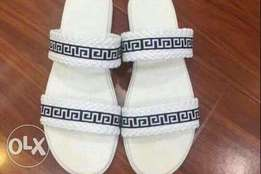 Men white slippers