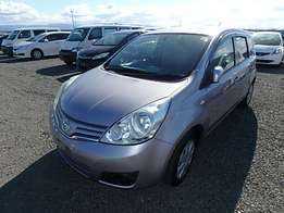Nissan Note Year 2010 Model Automatic Transmission 2WD Silver Color