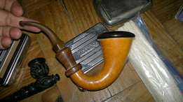 Vintage pipes with accessories