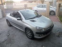 Peugeot 206 convertible 1.6 2002 on month end special sale R46500