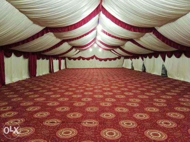 The tent rental & stages