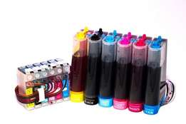 Epson ink. Continuous ink system (CIS) with ink at 2,200 only.
