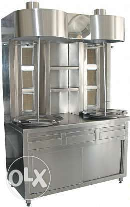 Complete kitchen equipment with stainless steel
