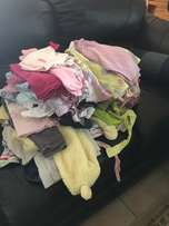 bundle of second hand baby girl clothing - 62 garments