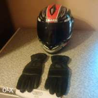 Shark bike helmet and gloves fo sale
