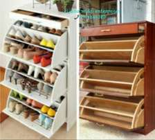 Exclussive design hardwood portable shoerack