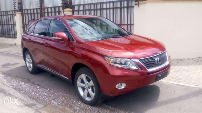 Red colour 2010 model Lexus RX 450h KCP number Mombasa Island - image 1