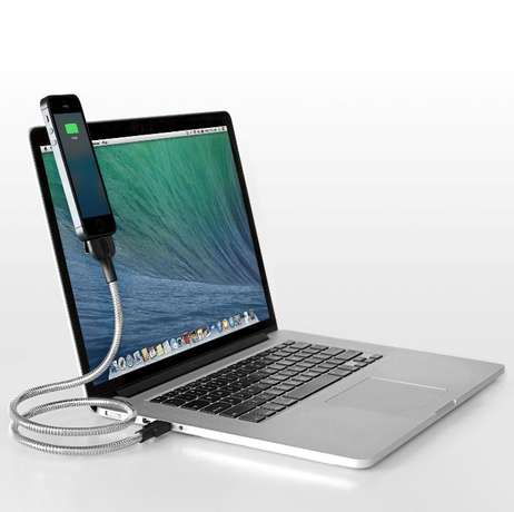 Flexible Metal Stand and Charging Cable Lightning cable Iphone 5 6 7 Parklands - image 2