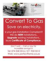 Gas stove / Gas hob - installation with certificate.