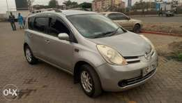 Nissan note, silver colour
