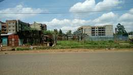 Half acre commercial plot for sale just past K-rep bank Kawangware