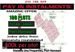 Plots of land in a beautiful layout after Igwuruta