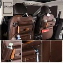 a pair Leather back seat organiser