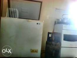 fairly used deep freezer and gas cooker for sale