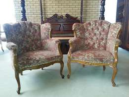 2 x Victorian chairs for sale