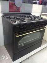 A gas cooker and oven