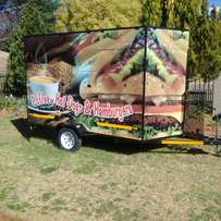 Food and smoothie trailer licensed with many extra gas certificates xx