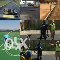 Tennis courts &Tar surfaces