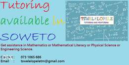One-on-one Mathematics & Physical Science Tutoring in SOWETO