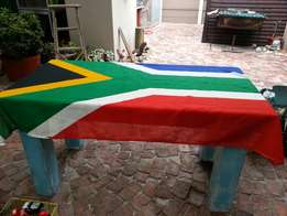 Large South African flag.