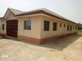 4bedroom bungalow, alone in a compound at kemta housing estate