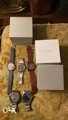 Calvin klein and DK watches for sale