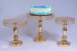 Cake Stand- Gold Crystal