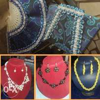 Awesome made beads and Ankara hand bags and hand fans
