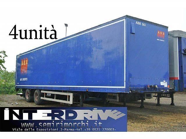 Van Hool semirimorchio furgonato 2 assi sponda usato - 2001
