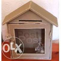 POST Box with Glass Door - 23 x 8 x 33 cm