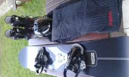 Snowboarding equipment for sale.