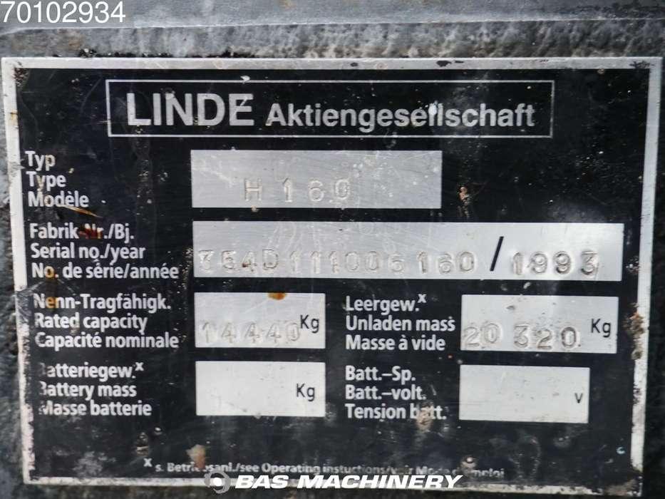 Linde H160-1200 Side shift - good tyres - 1993 - image 15