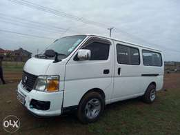 Nissan Caravan E25 Long Chasis,YOM 2007,Reg KCB ,Engine ZD30. private.