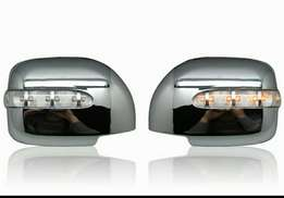 Chrome side mirror cover with lights for harrier new model.